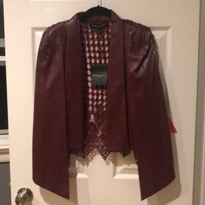 Forever unique London faux leather cape jacket
